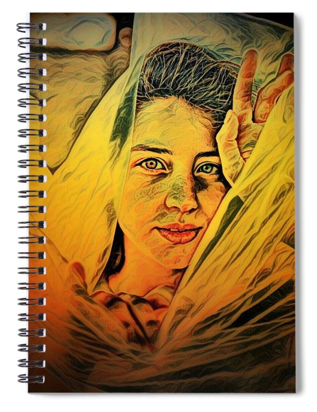 Lady Wrapped In Strings Spiral Notebook