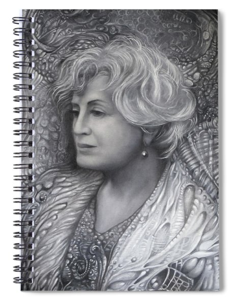Lady Z - Charcoal Underdrawing Spiral Notebook