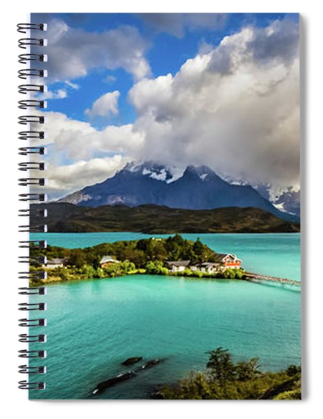 Lago Pehoe, Chile Spiral Notebook