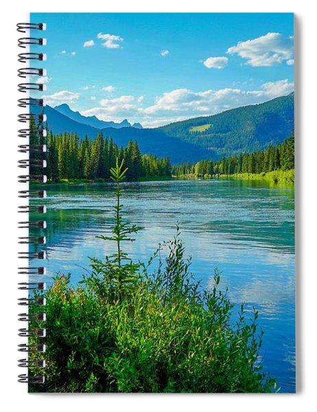 Lake At Banff Indian Trading Post Spiral Notebook