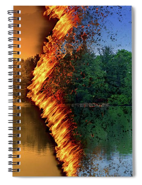 Lake Forest Fire Spiral Notebook