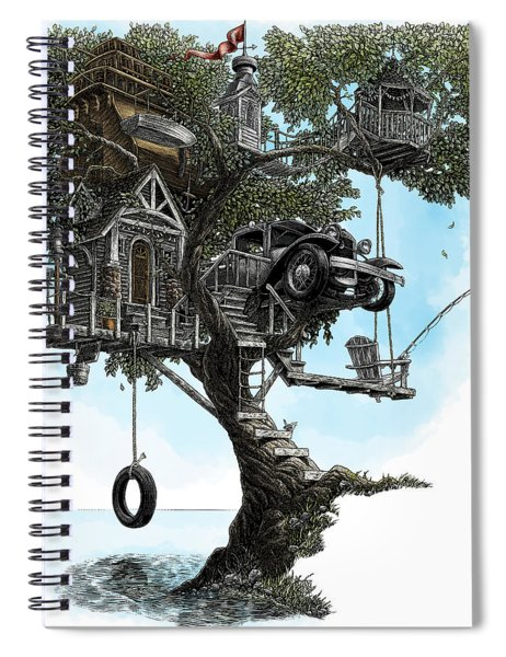 Lake Front Dream House Spiral Notebook