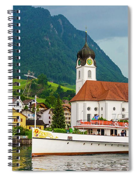 Lake Lucerne Steamer Spiral Notebook