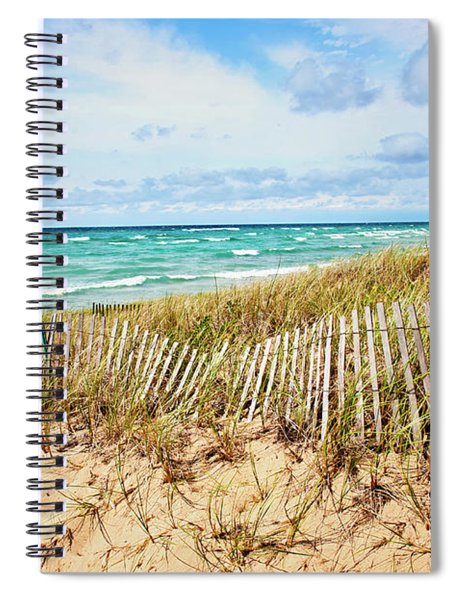 Lake Michigan Beachcombing Spiral Notebook