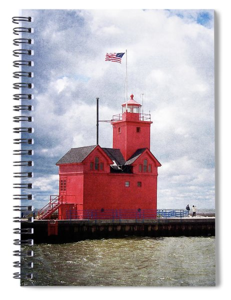 Lake Michigan Light House Spiral Notebook