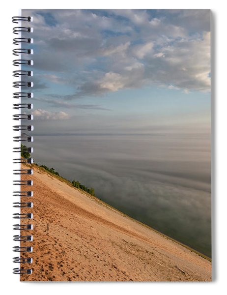 Spiral Notebook featuring the photograph Lake Michigan Overlook 11 by Heather Kenward