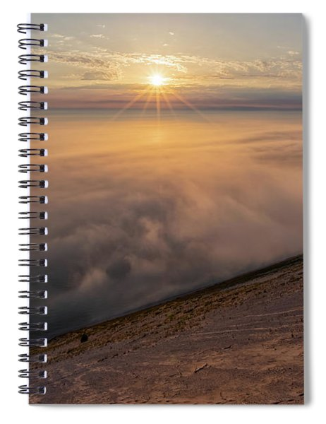 Spiral Notebook featuring the photograph Lake Michigan Overlook 13 by Heather Kenward