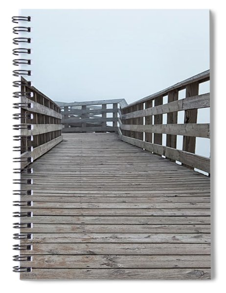 Spiral Notebook featuring the photograph Lake Michigan Overlook 16 by Heather Kenward