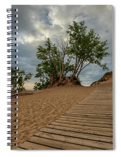 Spiral Notebook featuring the photograph Lake Michigan Overlook 4 by Heather Kenward