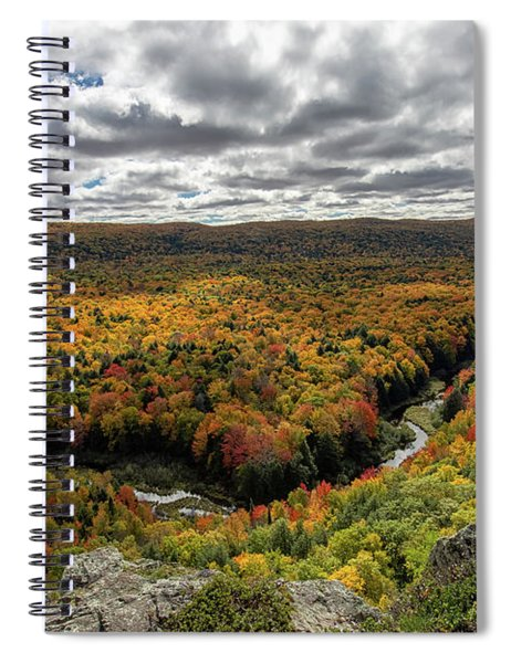 Spiral Notebook featuring the photograph Lake Of The Clouds 10 by Heather Kenward