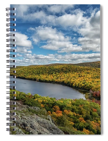 Spiral Notebook featuring the photograph Lake Of The Clouds 2 by Heather Kenward