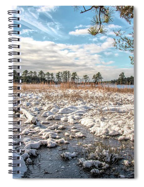 Lake Oswego After The Snow  Spiral Notebook