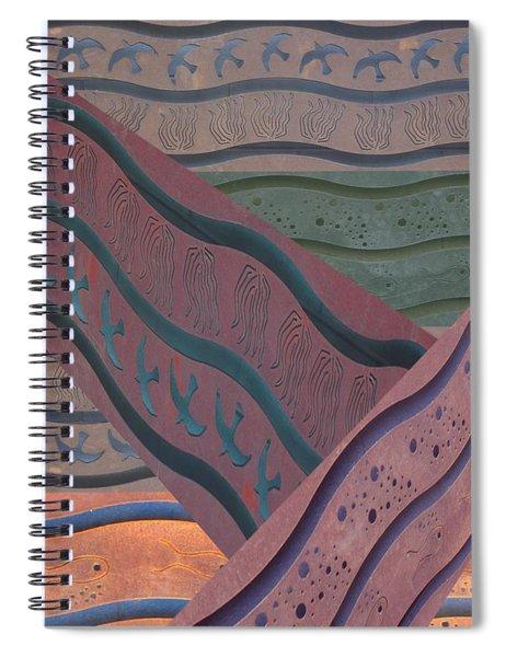 Lake Pat Sign Collage Spiral Notebook
