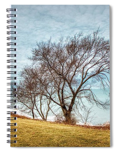 Lakeshore Lonely Tree Spiral Notebook
