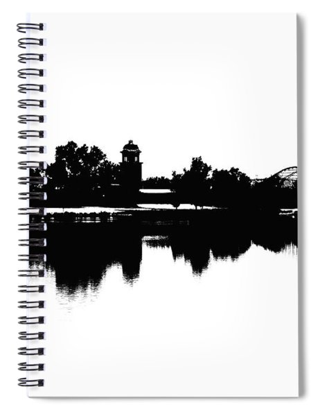 Lakeside Silhouette Spiral Notebook