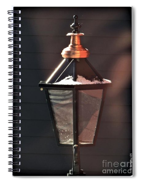 Lamp In Winter Spiral Notebook