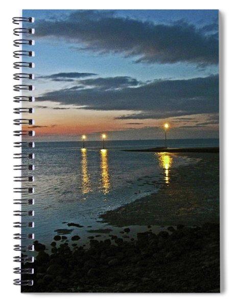 Lancashire. Knott End. Sunset.. Spiral Notebook
