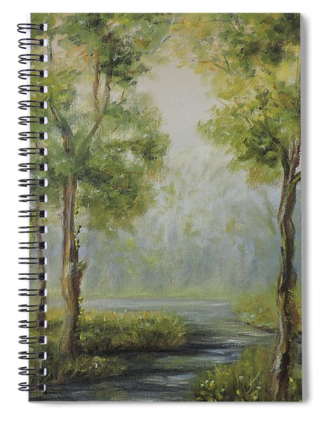 Landscape Of The Great Swamp Of New Jersey With Pond Spiral Notebook