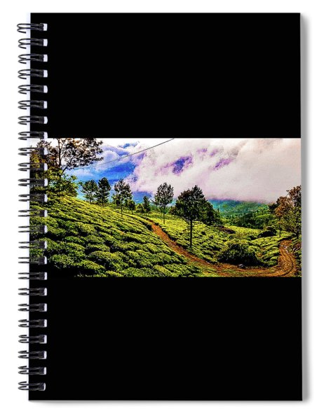 Green Landscape Spiral Notebook
