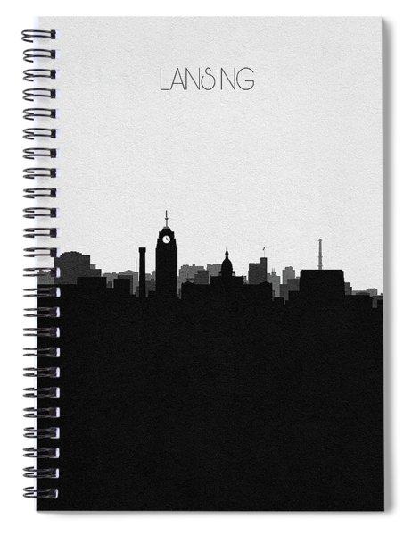Lansing Cityscape Art Spiral Notebook