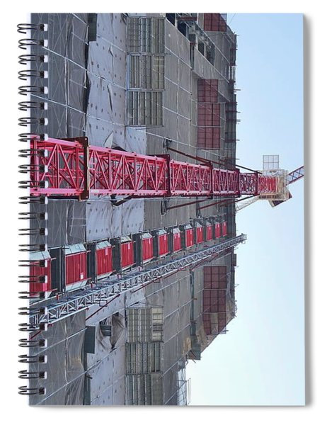 Large Scale Construction Site With Crane Spiral Notebook