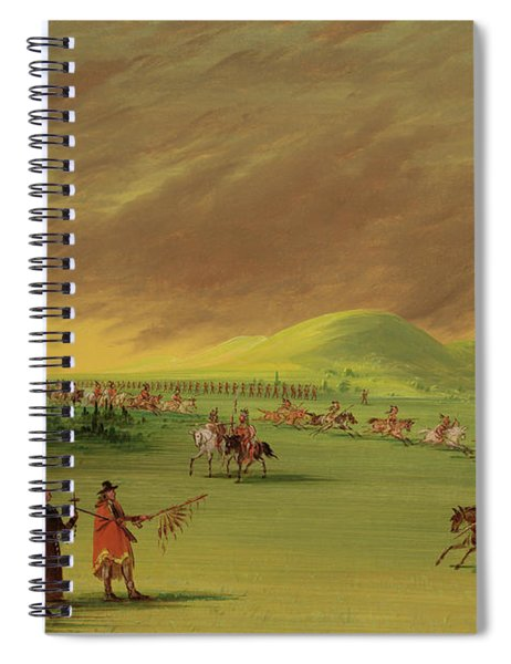Lasalle Meets On The Prairie Of Texas, A War Party Of Cenis Indians, April 25th, 1686. Spiral Notebook