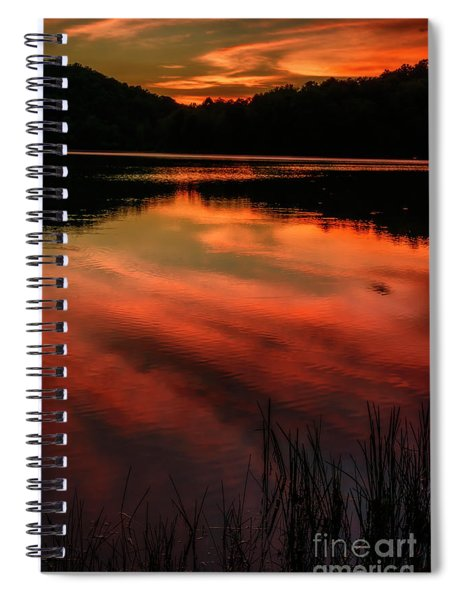 Last Light At The Lake Spiral Notebook