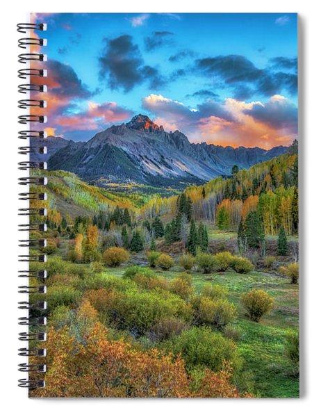 Last Light Mount Sneffels Spiral Notebook