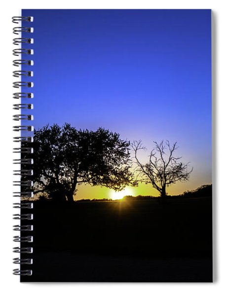 Last Light Texas Hill Country Paradise Canyon Sunset 8053a Spiral Notebook