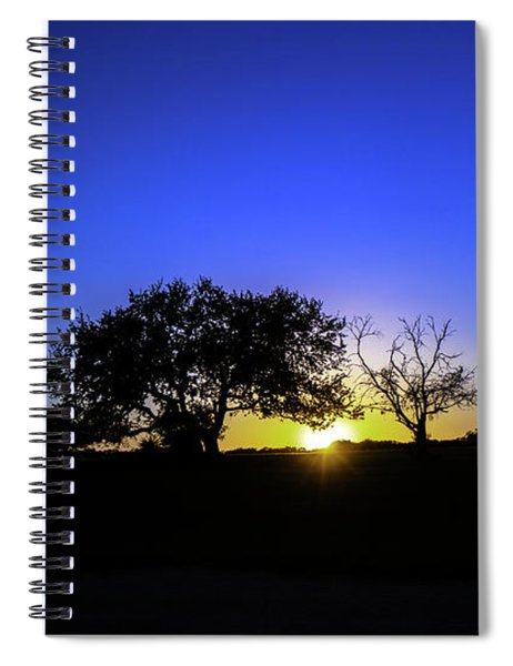 Last Light Texas Hill Country Paradise Canyon Sunset 8053a1 Spiral Notebook