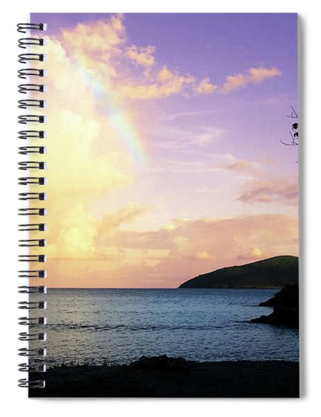 Last Rainbow Of The Day Spiral Notebook