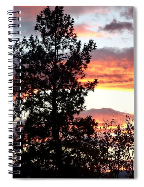 Late October Silhouettes Spiral Notebook