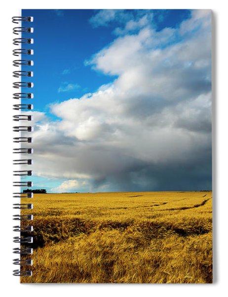 Late Summer Storm With Tornado Spiral Notebook