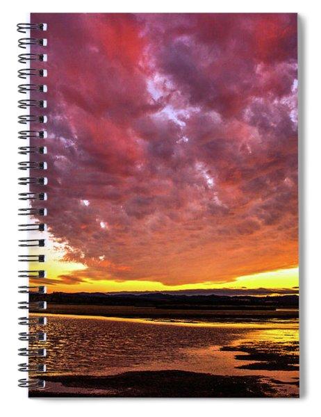 Late Summer Sunset Spiral Notebook