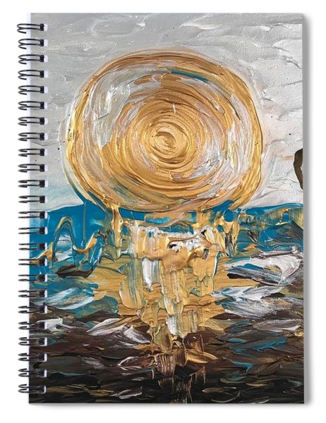 Latte Stone Sunset Spiral Notebook