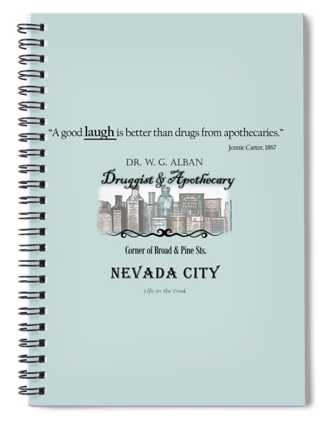 Laughter Is The Best Medicine - Apothecary Spiral Notebook