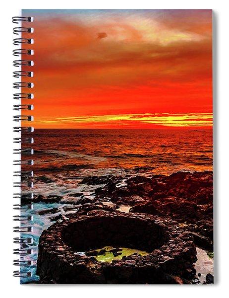 Lava Bath After Sunset Spiral Notebook