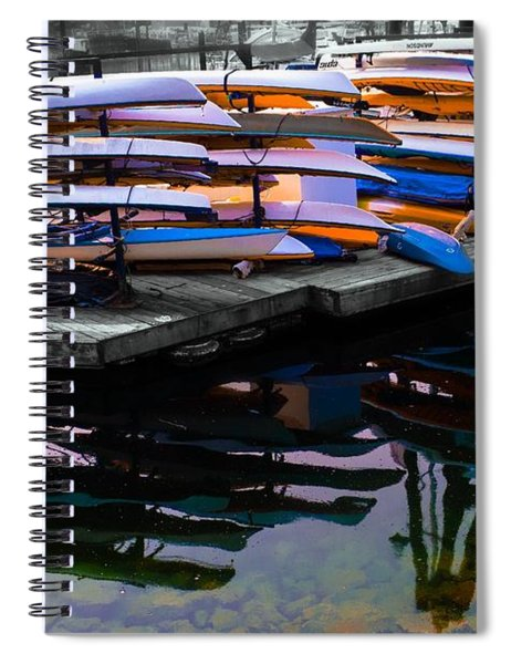 Layers And Layers By The Water Spiral Notebook