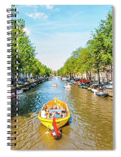 Lazy Sunday On The Canal Spiral Notebook