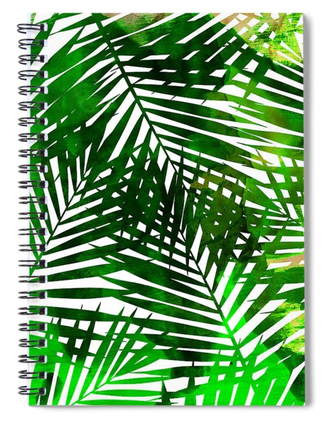 Leaf Collage Spiral Notebook