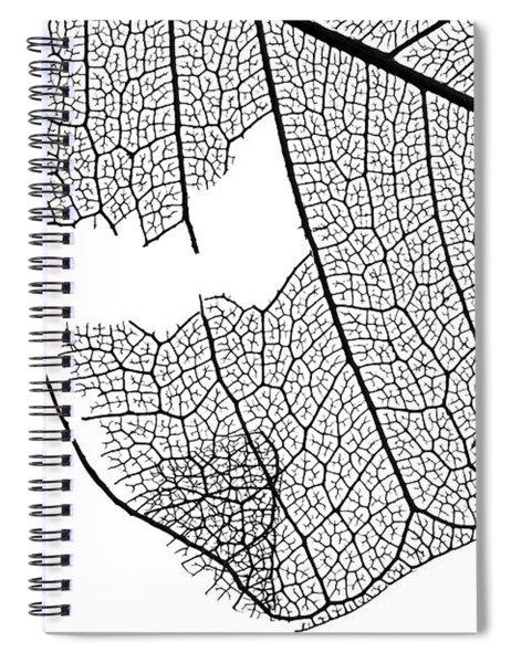Leaf Design Spiral Notebook