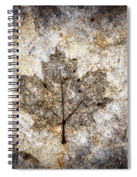 Leaf Imprint Spiral Notebook