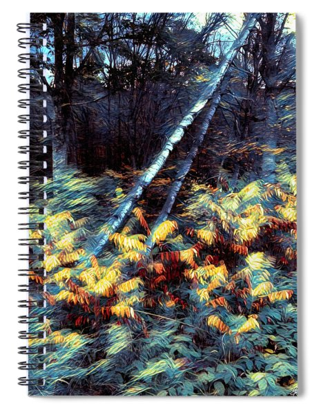 Leaning Birches Mindscape Spiral Notebook