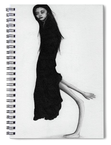 Leaning Woman Ghost - Artwork Spiral Notebook