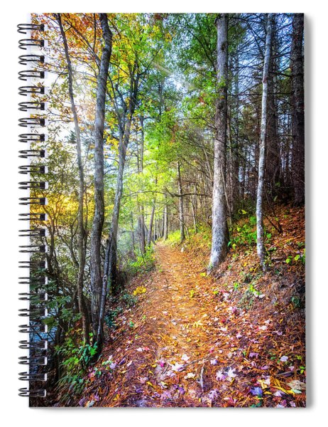 Leaves On The Trail Spiral Notebook