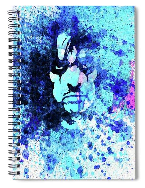 Legendary Alice Cooper Watercolor Spiral Notebook