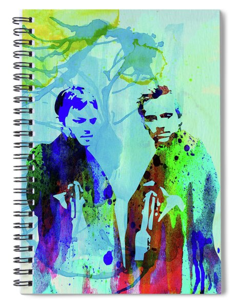 Legendary Boondock Saints Watercolor Spiral Notebook