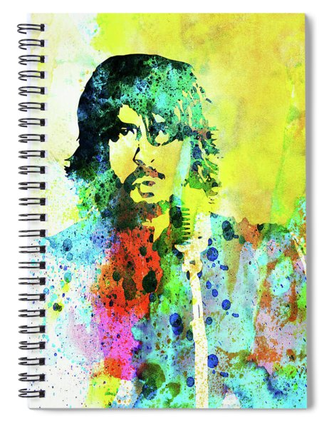 Legendary Foo Fighters Watercolor Spiral Notebook