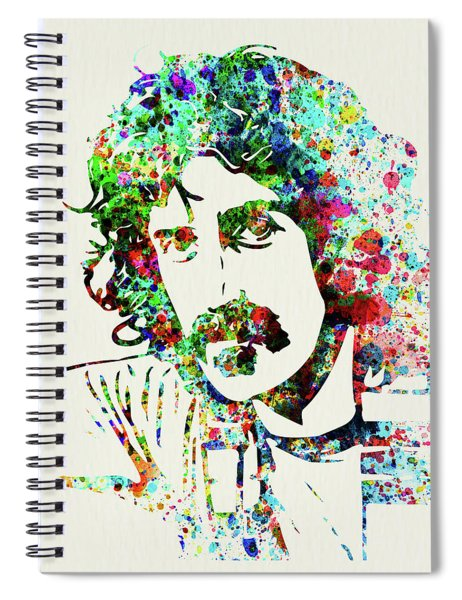 Legendary Frank Zappa Watercolor Spiral Notebook