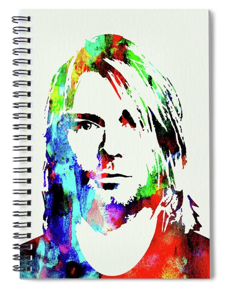 Legendary Kurt Cobain Watercolor Spiral Notebook